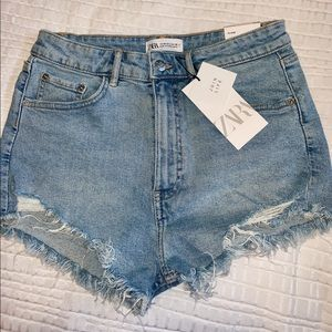 Denim high wasted shorts